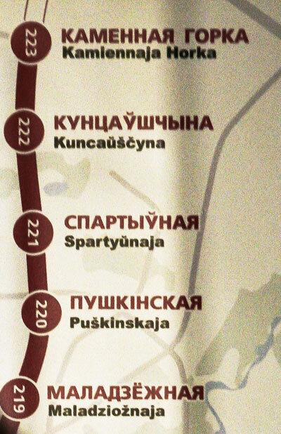 схемы с названиями станций