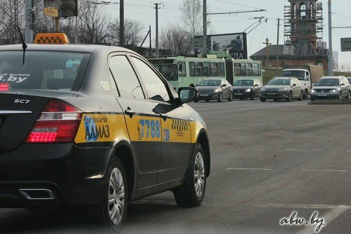 Секс с женой в такси