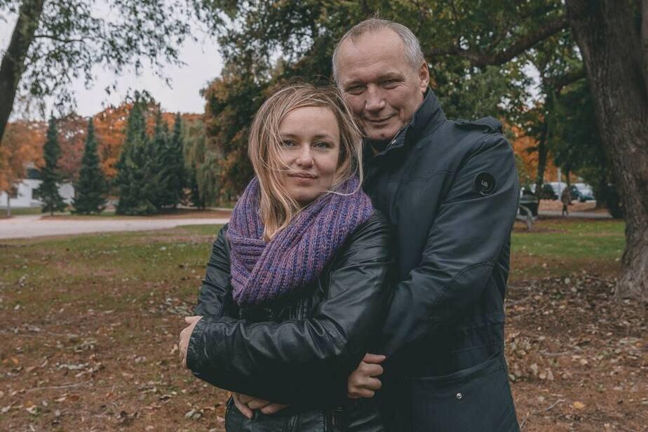 Ева Некляева с отцом.