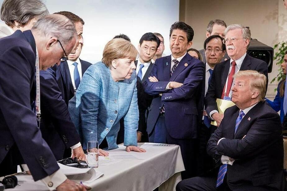 Картинки по запросу g7 трамп меркель
