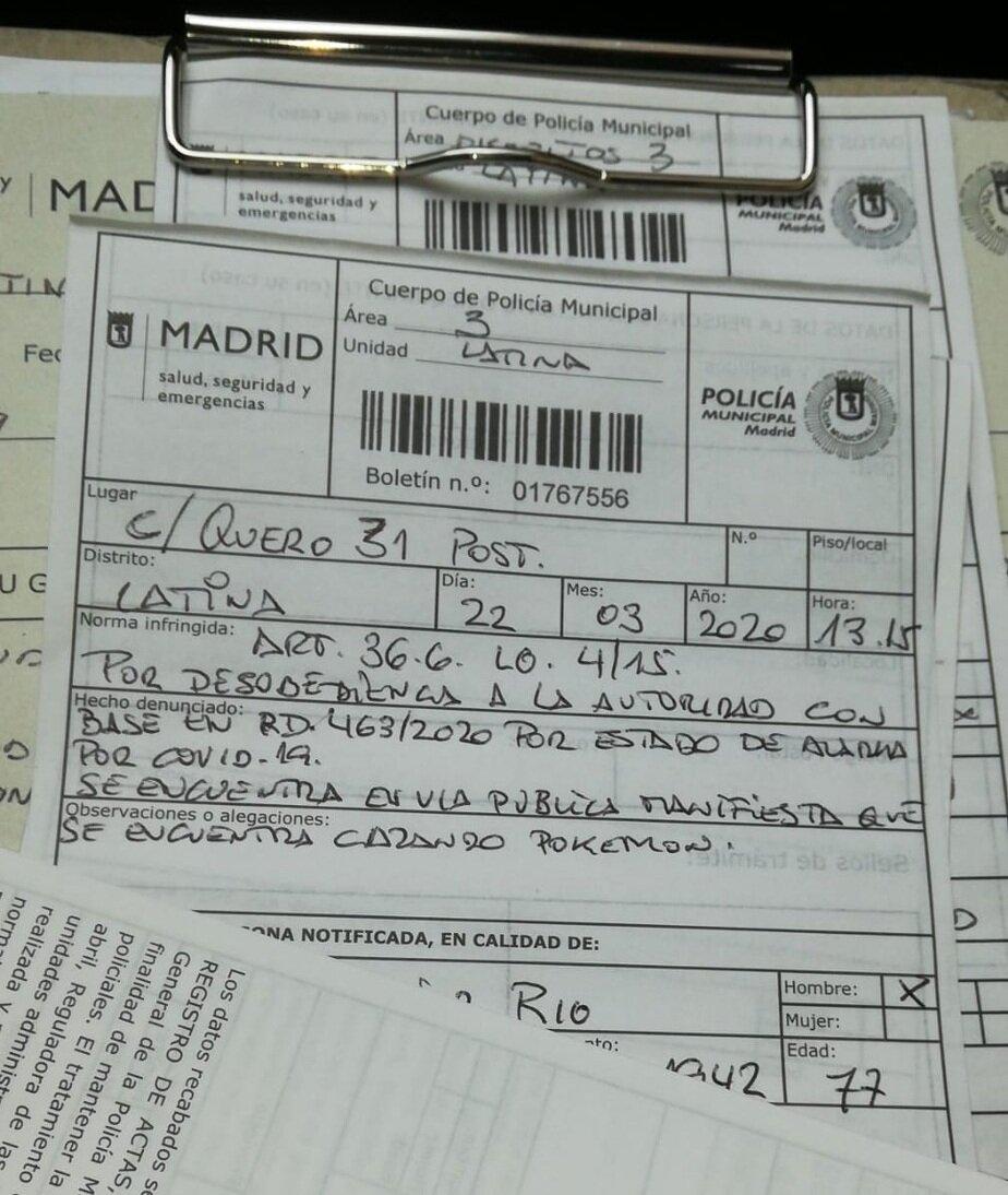 "Картинки по запросу ""В Мадриде оштрафовали 77-летнего мужчину за нарушение карантина."""