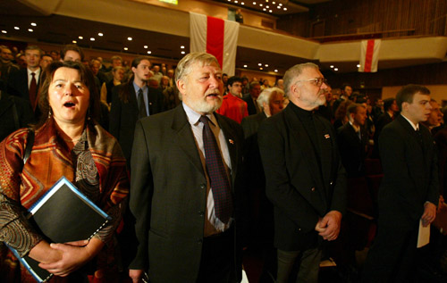 Meeting of Belarusan Popular Front. Photo by Julia Darashkevich