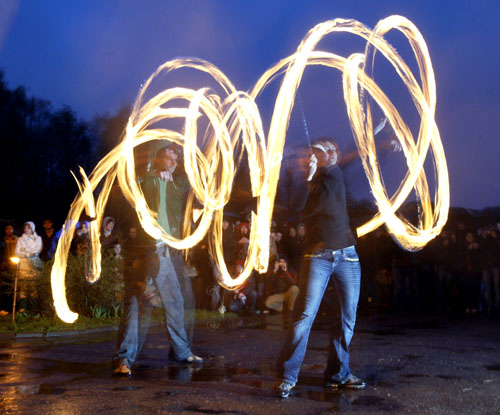 Fire show. Photo by Julia Darashkevich