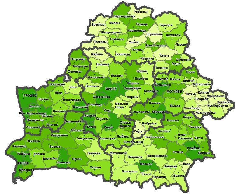 Беларусь карта фото
