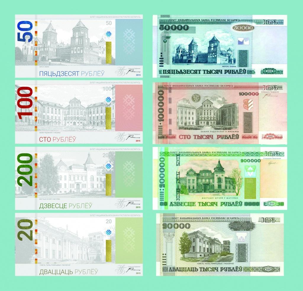 нового белорусские образца фото рубли
