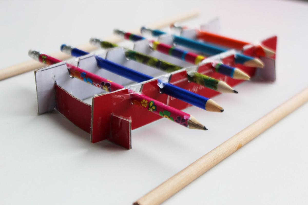 Музыкальный инструмент из бумаги своими руками 96