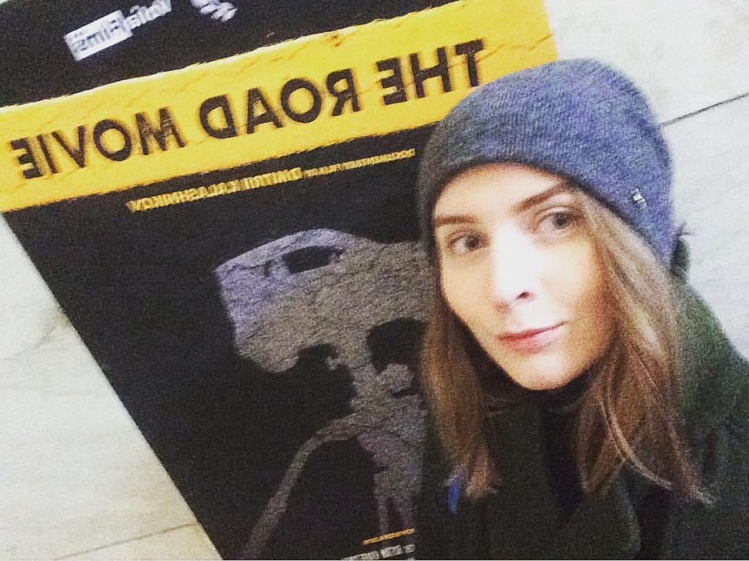 Ольга Чайковская и афиша «Дороги». Фото из социальных сетей.